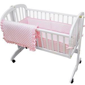 ⭐️NEW⭐️American Baby Company Heavenly Soft Minky Dot 3-Piece Cradle Bedding Set